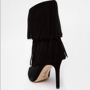 "Sam Edelman Shoes - Sam Edelman ""Belinda"" Black Suede Fringe Booties"